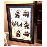 Framed Beatles picture