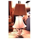 Milk glass lamp