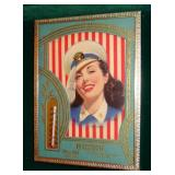 MISS LIBERTY ADVERTISING THERMOMETER