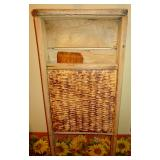 ANTIQUE ROCKINGHAM STONE WASHBOARD & SWIFT