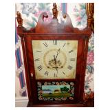 ANTIQUE REVERSE PAINTED SETH THOMAS MANTLE CLOCK