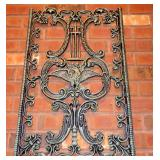 HEAVY ANTIQUE CAST IRON VICTORIAN ERA GARDEN GATE ARCHITECTURE