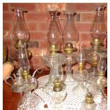 VINTAGE OIL LAMP COLLECTION