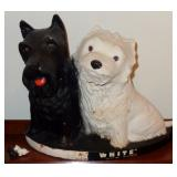 BLACK & WHITE SCOTCH ADVERTISING  SCOTTIES