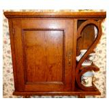 BEAUTIFUL ANTIQUE OAK WALL MOUNT CABINET