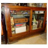 ANTIQUE COUNTRY STORE SLIDING GLASS DOOR DISPLAY CABINET