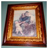GORGEOUS CARVED GILDED ANTIQUE PICTURE FRAME