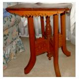 VICTORIAN CARVED EASTLAKE HONEY OAK PARLOR TABLE
