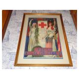 1918 BLASHFIELD PATRIOTIC RED CROSS POSTER