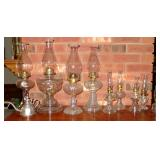 ANTIQUE OIL LAMP COLLECTION