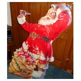 VINTAGE SANTA CLAUS COCA-COLA STAND UP CHRISTMAS DISPLAY