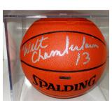 WILT CHAMBERLIN AUTOGRAPHED BASKETBALL TRI-STAR