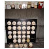 AUTOGRAPHED BASEBALLS INCLUDING AARON, DiMAGGIO, FELLER, GWYNN, MARION, RYAN, WILLIAMS,