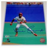 ST. LOUIS CARDINALS VINCE COLEMAN AUTOGRAPHED PHOTO