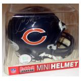 CHICAGO BEARS # 8 AUTOGRAPH HELMET