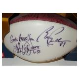 ST. LOUIS RAMS KURT WARNER RICKY PROEHL AUTOGRAPHED FOOTBALL