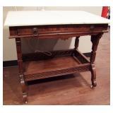 1880 Marble Top Eastlake Library Desk