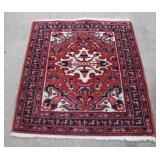 """40s Wool Kazak Oriental Rug, 32"""" X 36"""" long"""