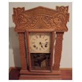 1890 Oak Kitcheng Gingerbread Clock