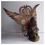 19th C Carving with Leather Wings - Bali ???