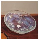 40s French Art Glass Bowl by  Vallon
