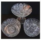 High Quality Cut Crystal Compote & Bowls