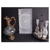 Amazing Cut Crystal Tray and Other Crystal Items