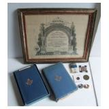 1890s Masonic group  incl. Tokens Etc