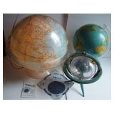 Various Terrestrial Globes that Light Up