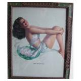 40s framed Armstrong Pin-up