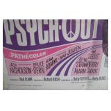 Closeup of Psych-out Movie Poster Credits - Dick Clark Production !