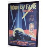 0s Replica Framed 33 Chicago Worlds Fair Poster