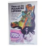 1968 Psycho-Out Movie Poster - Single Sheet Size -