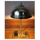 1910 Brass Desk Light Turned On