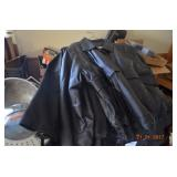 several leather jackets