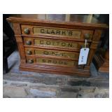 Oak cabinet tread cabinet one pane broken