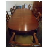 Hinkle-Harris cherry table 8 chairs