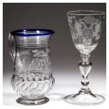 Fine selection of 18th century English and Continental glass