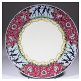 "Buffalo China sample plate with silhouettes of female dancers on the edge over ""LUNE LAMELLE"" ..."