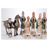 A selection of Ming and Han Dynasty figures purchased by the consigner from author and scholar Antho