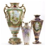 Fine selection of hand-painted Nippon from the Bitner collection