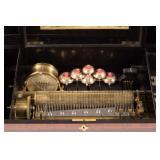 Detail of music box