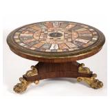 Classical center table (c. 1825) with pietra dura top