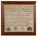 New England Wilcox family sampler, circa 1830. From a selection of samplers