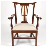 Virginia, possibly Alexandria, Chippendale armchair, ex-Milly McGehee