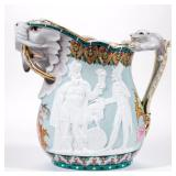 Rare Union Porcelain Works, Greenpoint, NY Heathen Chinese pitcher