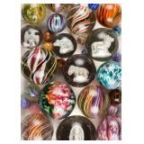 The Sisson Collection of over 500 antique marbles, including many rare swirl, onionskin, and sulphid