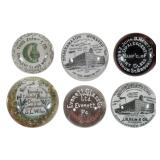 Large selection of advertising paperweights