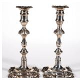 Fine pair of William Cafe Georgian sterling candlesticks, from the estate collection of Buryl and...