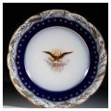 Rare Limoges dessert plate from President Benjamin Harrison